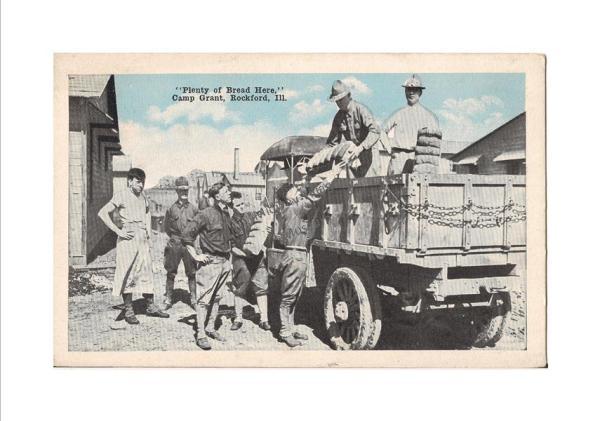 WWI era Camp Grant postcard